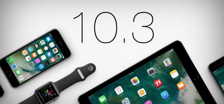 Nuovo FW, rilasciato iOS 10.3.1 per tutti iPhone, iPad e iPod touch!